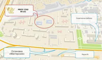 Схема проезда к школе №102 города барнаула